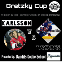 Instagram, Memes, and New York: Gretzky Cup  NHL  OISCUSSION  ONHLDISCUSSION  VOTE FOR THE BETTER PLAYER IN THE COMMENTS  KARLSSON  on Mu  TAVARES  Presented by: Bandits Goalie Sc  BANDITS The NHL's best defenseman since Bobby Orr, or the face of the New York Islanders franchise!?! Vote for the better player in the comments! • Check out the best goalie page on Instagram, @banditsgoaltending ! • Karlsson Tavares Senators NHLDiscussion gretzkycup