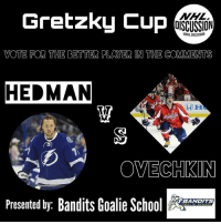 Memes, Best, and Goal: Gretzky Cup  OISCUSSION  ONHLDISCUSSION  VOTE FOR THE BETTER PLAYER IN THE COMMENTS  HEDMAN  OVECHKIN  Ba  BANDITS  Presented by: Bandits Goalie Sc The next instalment of the GretzkyCup features Ovechkin and Hedman! Vote for the better player in the comments! Is it the worlds best goal scorer, or the man on pace to become the NHL's best defenseman? • Check out the best goalie content, @banditsgoaltending • Hedman Lightning Ovechkin Ovi Capitals Washington NHLDiscussion