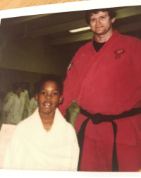Grew up in the dojo... I'll whoop that ass. Bet you ain't know that one did you? Lol FBF: Grew up in the dojo... I'll whoop that ass. Bet you ain't know that one did you? Lol FBF