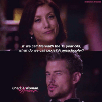 Greysanatomymylife 5x15 If We Call Meredith The 12 Year Old What Do