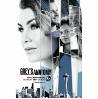 #GreysAnatomy official poster for season 14. https://t.co/1oAc8zrDGb: GREY'SANATOMY  SEASON PREIERE  THURSDAY SEPT 28 817c  #GreysAnatomy  abc #GreysAnatomy official poster for season 14. https://t.co/1oAc8zrDGb