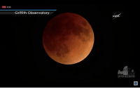 Blood Moon, Blue, and Eclipse: Griffith Observatory  GRIFFITH OBSERVATORY Today will bring the first super blue blood moon in over 150 years! The total lunar eclipse will begin at 06:48am EST
