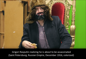 Empire, Sorry, and History: Grigori Rasputin realizing he is about to be assassinated  (Saint Petersburg, Russian Empire, December 1916, colorized) Sorry if this was posted before