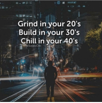 Chill, Club, and Memes: Grind in vour 20's  Build in your 30's  Chill in vour 40's  The Success Club Who agrees with this plan? - - Via - @the.success.club