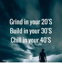 Grinding, Inn, and Build: Grind in your 20s  Build in your 30s  Chill in your 40s  SSS  00 0'  234  rrr  III  000  yyy  Inn  dd ll  ni --  ill  GBC Goals.