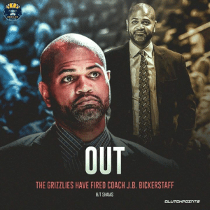 Memphis Grizzlies, Head, and Record: GRIZZLIES  THE GRIZZLIES HAVE FIRED COACH J.B. BICKERSTAFF  HIT SHAMS In his nearly two years as the head coach, J.B. Bickerstaff held a 48-97 record with the Grizzlies. @griznationcp