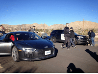Memes, 🤖, and Michelin: Gro We're at the launch of the Michelin PS4S today, and have been driving with a supercar convoy in the desert, complete with police escort!