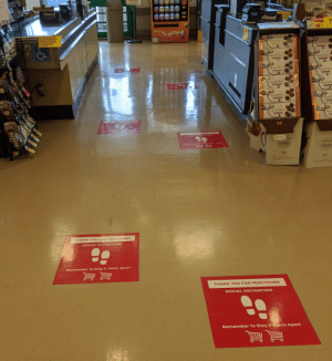 Grocery Store Social Distancing at Its Finest: Grocery Store Social Distancing at Its Finest