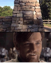 "Hello, Jedi, and Memes: GROUND  PARK  ESTABLISHED  2013 Hello there!  Posted by Zame Nunes on ""Just Jedi Memes"""