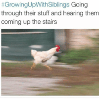Memes, Justice, and Stuff:  #GrowingUpWithSiblings Going  through their stuff and hearing them  coming up the stairs poetic justice growingupwithsiblings