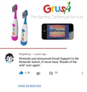 GrusA the Gaming Toothbrush for Kids Megafang 2 Years Ago