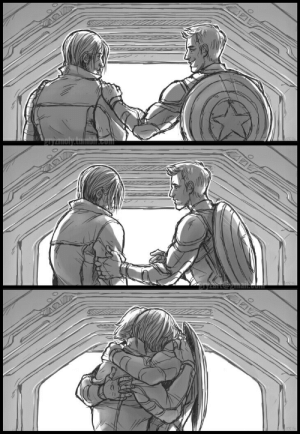 gryzmoly:Sure do wish there'd been a hug somewhere in Civil War.: gryzmoly:Sure do wish there'd been a hug somewhere in Civil War.