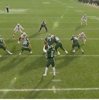 Sports, Ohio, and Scott: GS  75 LJ Scott hurdles the Ohio St. defense and finishes with 160 yards on the day