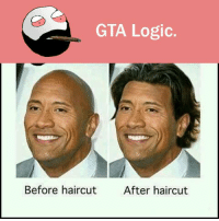 Gta Logic: GTA Logic.  Before haircut  After haircut