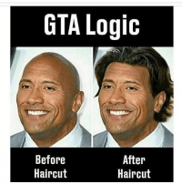 Haircut, Logic, and Memes: GTA Logic  Before  Haircut  After  Haircut Follow my back up account @ldfac Follow @lossantosmedia.ig for more