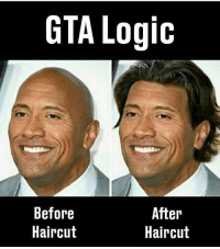 Crazy, Funny, and Haircut: GTA Logic  Before  Haircut  After  Haircut Hope everyone's had a good Sunday :) Double tap for luck 👌🏼 Enjoy the memes? Get even more on my backup (@memerzone) ➖➖➖➖➖➖➖➖➖➖➖➖➖➖➖➖➖ Tags (Ignore) 🚫 GamingPosts Laugh CallOfDuty Lol Meme Memes Cod Selfie Funny Gamer FunnyAF Savage Salt Meme PhotoOfTheDay Crazy Insane Minecraft Shook Joke NoChill YouTube Relatable ladbible Overwatch