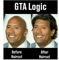 "Haircut, Logic, and Memes: GTA Logic  IC  Before  Haircut  After  Haircut Im echten Leben würde es ""Before Photoshop and after Photoshop"" heißen."