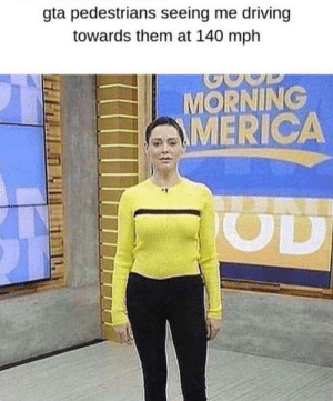 GTA was the shit via /r/memes https://ift.tt/375kiQw: gta pedestrians seeing me driving  towards them at 140 mph  P  MORNING  MERICA  OD GTA was the shit via /r/memes https://ift.tt/375kiQw