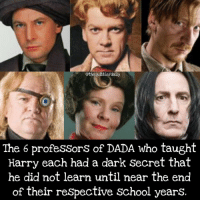 Gryffindor, Hermione, and Memes: Gthequibblerdaily  The 6 professors of DADA who taught  Harry each had a dark Secret that  he did not learn until near the end  of their respective school years. Did you realize this? Comment 😏 if you did and 😮 if you didn't . . . . . . . . __________________________________________________ __________________________________________________ hogwartsishome harrypotter potter potterhead wizardingworld wizardingworldofharrypotter gryffindor hufflepuff slytherin ravenclaw hogwarts hogwartsismyhome hermione sharethemagic hermionegranger ronweasley lordvoldemort voldemort harrypotterfacts hpfacts snape dracomalfoy nevillelongbottom hp jkrowling fandom emmawatson fantasticbeasts fbawtft