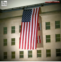 The Americanflag was unfurled at the Pentagon on the 16th anniversary of the September 11th attacks. NeverForget 🇺🇸: gton, Virginia  NEWS The Americanflag was unfurled at the Pentagon on the 16th anniversary of the September 11th attacks. NeverForget 🇺🇸