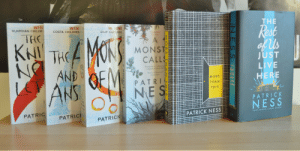 Books, Children, and Target: GUARDIAN CHILDR  WIN  COSTA CHILDREN  THE  CILIP CARNEG  est  655  AND  UST  IV  Daily Mail  MORE  THAN  THIS  PATRICK  NESS  PATRI  PATRIC  PATRICK NESS  PATRICK boneseasonofglass:  Books by Patrick Ness