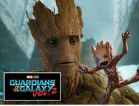 """College, Memes, and Vin Diesel: GUARDIANS  OF  GALAXY  THE Vin Diesel explains Groot's transition as going from """" a college-level Groot"""" to """"this goofy, adorable, baby Groot thing running around the screen and just learning as he goes."""" http://tinyurl.com/h3x5g2g  (Brian)"""