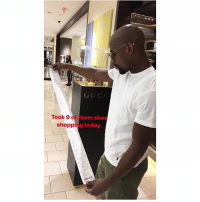 Memes, Shopping, and Worldstar: GUC  Took 9 of t  hem shoe  shopping today, Looks like FloydMayweather already hit the mall to share his winnings 👀🛍💰 (Via @floydmayweather) @worldstar WSHH