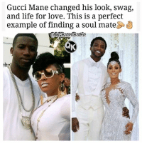 Dating, Facts, and Gucci: Gucci Mane changed his looK, Swag,  and life for love. This is a perfect  example of finding a soul mate 👑Go follow ➡@ogboombostic_ For the most viral memes on social media ✔check out @quotekillahs Dm us on how to reach 1 Million💪ACTIVE followers for your promotion and marketing needs. Our advertising network consist of ♻@quotekillahs 💯@terryderon 👊@loyalgirlnotes 👌@royaltyispower 👑@ogboombostic_ 😍@just2vicious 🙏@boutmyblessings ogboombostic quotekillahs kingofquotes guccimane relationshipgoals relationshipadvice lovelife dating relationships message nolie wordstoliveby truestory trust respect realtalk imjustsaying facts truelove accurate reallytho truthbetold loyalty straightup factsonly worstfeeling lonely trustissues keyshiakaoir lovingyourself
