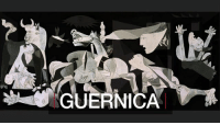 26 APR: Guernica is one of the best-known paintings in the world. Spanish artist Pablo Picasso said that his great work means what each person sees in it, but critics and experts have tried to fathom a deeper meaning to each of its elements. On the 80th anniversary of the bombing of the Basque town of Gernika (Guernica in Spanish) which inspired the painting, we ask an expert to interpret the great work. According to Rosario Peiro, Head of Collections, Reina Sofia Museum, Guernica is notable as a departure from earlier military-themed art – it does not celebrate victory, but shows the drama and suffering of a people, a work in which the heroism is human pain and suffering. For more on Guernica: bbc.in-Guernica Guernica Gernika Spain Basque BasqueCountry SpanishCivilWar Art PabloPicasso Picasso BBCShorts BBCNews @BBCNews: GUERNICA 26 APR: Guernica is one of the best-known paintings in the world. Spanish artist Pablo Picasso said that his great work means what each person sees in it, but critics and experts have tried to fathom a deeper meaning to each of its elements. On the 80th anniversary of the bombing of the Basque town of Gernika (Guernica in Spanish) which inspired the painting, we ask an expert to interpret the great work. According to Rosario Peiro, Head of Collections, Reina Sofia Museum, Guernica is notable as a departure from earlier military-themed art – it does not celebrate victory, but shows the drama and suffering of a people, a work in which the heroism is human pain and suffering. For more on Guernica: bbc.in-Guernica Guernica Gernika Spain Basque BasqueCountry SpanishCivilWar Art PabloPicasso Picasso BBCShorts BBCNews @BBCNews