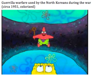 War, Circa, and Used: Guerrilla warfare used by the North Koreans during the war  (circa 1951, colorized) Those filthy communists