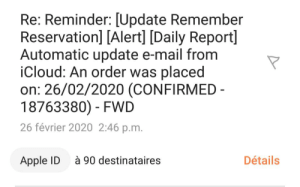 Guess that 90 people got a purchase from a different IP address at the same time (90 destinataires=90 people that recieved the e-mail): Guess that 90 people got a purchase from a different IP address at the same time (90 destinataires=90 people that recieved the e-mail)