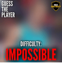 Nba, Guess, and Player: GUESS  THE  PLAYER  NBA  DISTRI  DIFFICULTY  IMPOSSIBLE Guess The Player #11! - What difficulty did you get it on?🤔 - Note: there is a difference between impossible and hard it's just kinda hard to see