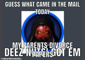 darth maul skin: GUESS WHAT CAME IN THE MAIL  TODAY  MY PARENTS DIVORCE  DEEZ NPARERS OT EM  madewithtmematigc darth maul skin