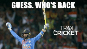 Best Friend, Memes, and Respect: GUESS. WHO'S BACK  CRICKET  OSPO  DIA It's hard to be Dinesh Karthik in this world.  His 1st Wife cheated him. His best friend Murali Vijay stabbed on his back. Lost his place in Indian side to M.S.Dhoni in 2006.  Still there he is in 2019, still fighting with wounds, Not giving up, Working hard. #Respect  #Swagger  <Vizz>