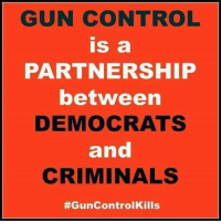 Memes, Control, and 🤖: GUN CONTROL  is a  PARTNERSHIP  between  DEMOCRATS  and  CRIMINALS