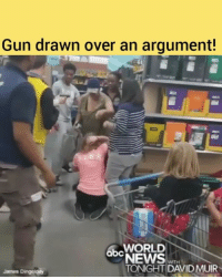 🔫GUN DRAWN: An argument in the back-to-school aisle of a Michigan @walmart turned physical, with a woman pulling a gun from her bag after another shopper pulled her daughter's hair in an alleged disputed over school supplies, sending bystanders and employees running. @pmwhiphop: Gun drawn over an argument!  WORLD  abc  QDNEWS  WITH  TONIGHT DAVID MUIR  James Dingeldey 🔫GUN DRAWN: An argument in the back-to-school aisle of a Michigan @walmart turned physical, with a woman pulling a gun from her bag after another shopper pulled her daughter's hair in an alleged disputed over school supplies, sending bystanders and employees running. @pmwhiphop