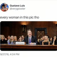 Memes, Trump, and Wife: Gustavo Luis  @verygooster  every woman in this pic tho  Hon Brett M.Kavanaugh  9/27/18, 4:24 PM @Regran_ed from @realdlhughley - INCLUDING HIS WIFE!!! TeamDL STOPKAVANAUGH kavanaugh liar maga FuckTrump trump supremecourt ibelieveher webelieveHER - regrann