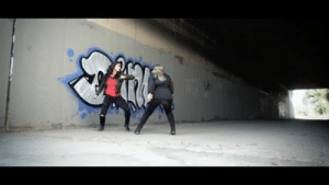 """Tumblr, Black Widow, and Black: guts-and-uppercuts: What would happen if Black Widow and Elektra fought? Lauren Mary Kim (Elektra's stunt double in """"Daredevil"""") created this fight with Amy Johnston (Scarlet Johansson's """"Avengers"""" stunt double) to find out.It's an amazing fight. Lauren Mary Kim is quite the choreographer."""