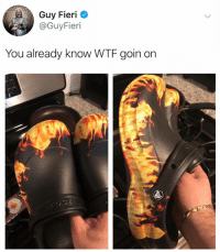 Guy Fieri, Memes, and Wtf: Guy Fieri  @GuyFieri  You already know WTF goin on