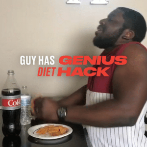 How to make it through your diet 👃😂: GUY HAS GENIUS  DIETHACK  Cok How to make it through your diet 👃😂