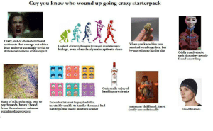 Guy you knew who wound up going crazy starterpack: Guy you knew who wound up going crazy starterpack