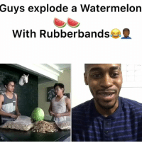 What in Tarnation is going on here 😒 - - For more videos follow me @kmoorethegoat @kmoorethegoat watermelon funny explode wow: Guys explode a Watermelon  With Rubberbands What in Tarnation is going on here 😒 - - For more videos follow me @kmoorethegoat @kmoorethegoat watermelon funny explode wow