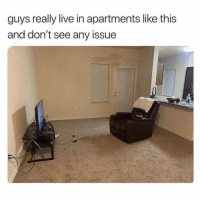 Live, Issue, and This: guys really live in apartments like this  and don't see any issue Do y'all agree with this? 👇🤔 https://t.co/CzauryOHxQ