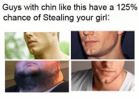 Somebody once told me, the world was gonna roll me.: Guys with chin like this have a 125%  chance of stealing your girl Somebody once told me, the world was gonna roll me.