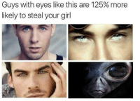 Ayy LMAO, Lmao, and Girl: Guys with eyes like this are 125% more  likely to steal your girl Ayy lmao