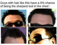 Dank Memes, Tools, and Shedding: Guys with hair like this have a 0% chance  of being the sharpest tool in the shed