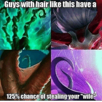 "league of legends: Guys with hair like this have a  125% chanced f stealing your ""Wife"