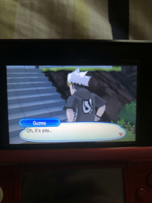 When you happen to see your padawan wandering the Alola region: Guzma  Oh, it's you... When you happen to see your padawan wandering the Alola region