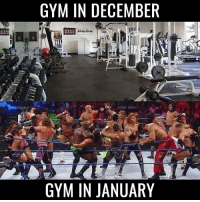 Gym: GYM IN DECEMBER  GYM IN JANUARY