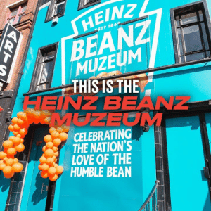 Beans, beans are good for your heart, the more you eat, the more you... 😂😋: HΕΙΝ ,  BEANZ  MUZEUM  THIS IS THE  HEINZ BEANZ  MUZEOM  ESTP 186  CELEBRATING  THE NATION'S  LOVE OF THE  HUMBLE BEAN Beans, beans are good for your heart, the more you eat, the more you... 😂😋